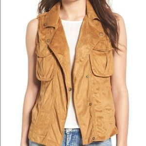 Thread & Supply Faux Suede Vest L